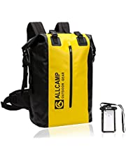 ALLCAMP Dry Bag Backpack,Dry Bag, Waterproof Backpack for BOATING, with a Removable Laptop sleeve (Black)