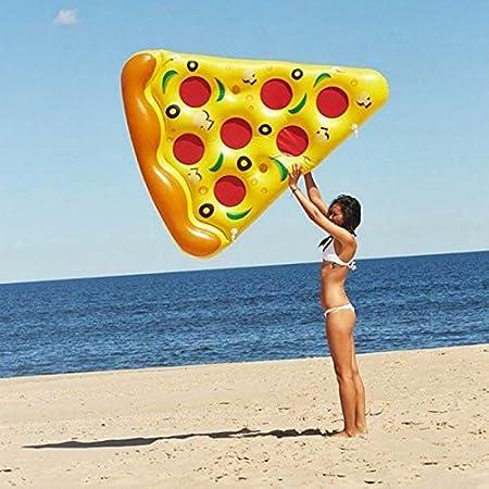 Amazon.com: 180150 cm gigante Pizza inflable piscina ...