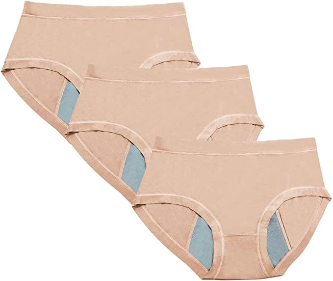 Daytwork Viscosa Menstrual Bragas - 3 Pack Mujer Cintura Media ...