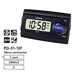 Casio PQ-31-1EF Black Alarm Clock