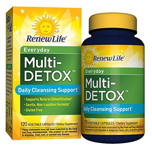 Renew Life - Multi-Detox - everyday cleanse supplement - 120 vegetable capsules