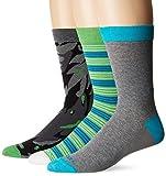 Diesel Men's Ray 3 Pack Printed Socks, Grey Camo, Large
