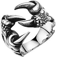 يويو FEEL أزياء الإبداعية الفولاذ المقاوم للصدأ التنين مخلب الدائري السيدات الرجال التيتانيوم الصلب خاتم ريترو بانك نمط…