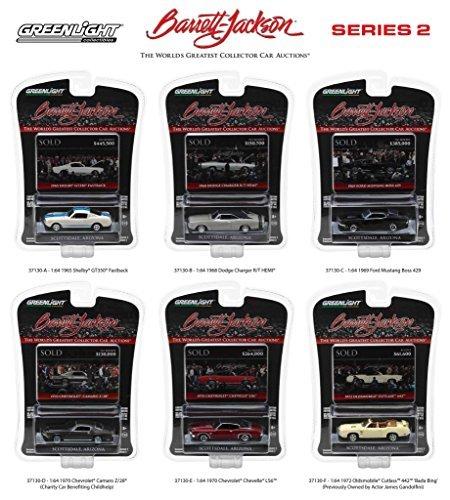 Barrett Jackson Scottsdale Edition Series 2, 6pc Set 1/64 Diecast Model Cars by Greenlight 37130