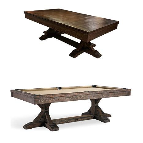 Plank & Hide Thomas Mesa de Billar con Parte Superior de Comedor ...