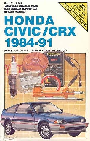 chilton s repair manual honda civic crx 1984 91 all u s and rh amazon com 1991 honda crx si service manual 1991 honda crx si service manual