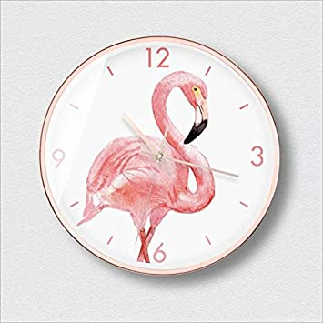XIXIGZ Relojes De Pared Personalidad Nórdica Moda Reloj De Pared Flamenco Moderno Minimalista Reloj De Pared Sala De Estar Tendencia Creativa Mudo Ambiente ...