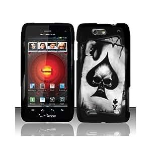 Black Skull Poker Hard Cover Case for Motorola Droid 4