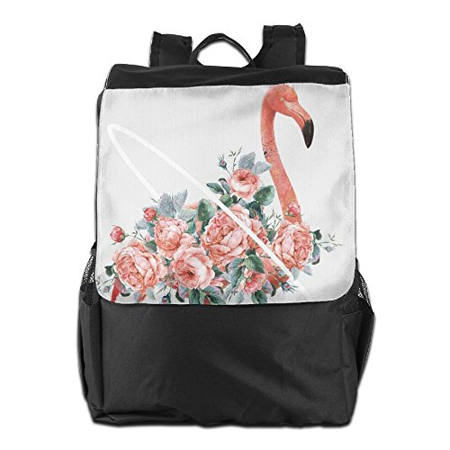 for Personalized Men and Pink Travel HSVCUY Camping School Dayback Storage Shoulder Outdoors Women Backpack Flamingos Adjustable Strap axddWZOqw