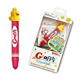 Ndevr Grafiti Aluminum Kid Friendly Stylus Tablet Styli Crayon with Hanging Strap and Yellow Ducky Cap - Red GRA-YDK-RD-NDR000