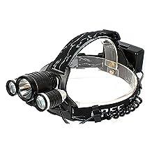 Heng Heng - 3000LM 10W High Power CREE 3 Head XML T6 LED Bicycle Bike Light Head Lamp 2 in 1 - HNG-BG-000457