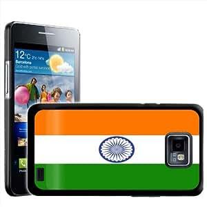 Fancy A Snuggle - Carcasa rígida para Samsung Galaxy S2 i9100, diseño de la bandera de India