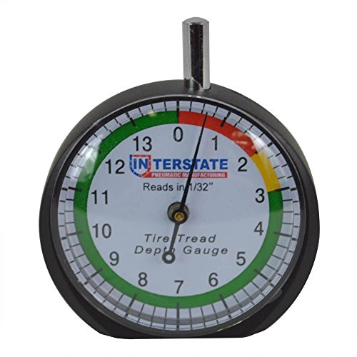 Interstate Pneumatics TG32 Professional Dial Type Tire Tread Depth Gauge