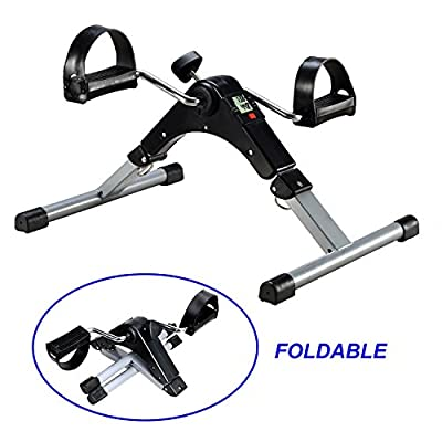 EXEFIT Desk Cycle Pedal Exerciser Bicycle for Leg and Arm Cycling Exercise with LCD Monitor