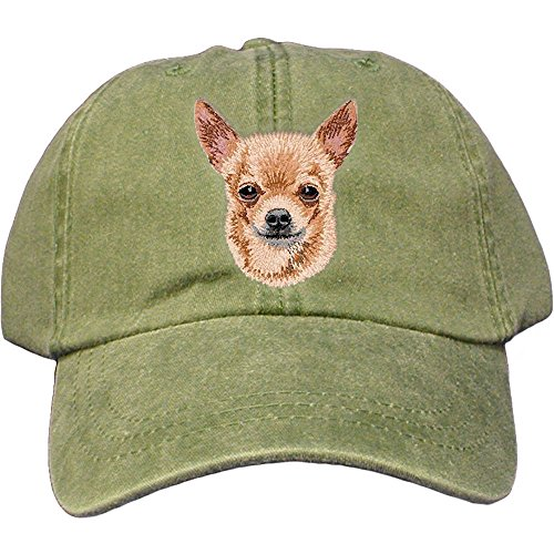 Cherrybrook Dog Breed Embroidered Adams Cotton Twill Caps - Spruce - Chihuahua