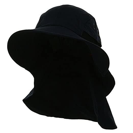 63fef59b6e6 Amazon.com  4 Panel Quick Dry Out Moisture Large Bill Flap Hat Sun ...