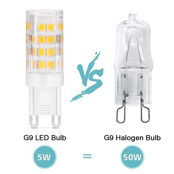 Amazon.com: EECOO - Bombillas LED G9 de 5 W regulables, base ...