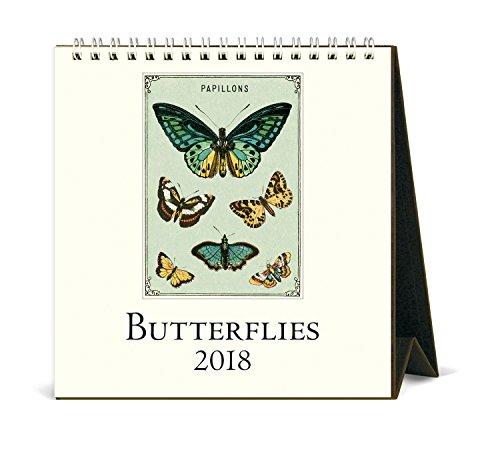 Butterfly Calendar - Cavallini Papers & Co. 2018 Butterflies Desk Calendar