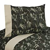 Sweet Jojo Designs 3-Piece Twin Sheet Set for Green Camo Bedding Collection