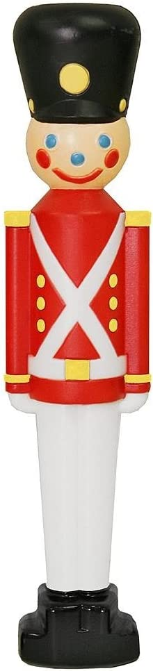 """SET OF 2 - 33"""" TOY SOLDIER BLOW MOLD OUTDOOR/INDOOR CHRISTMAS DECORATIONS"""
