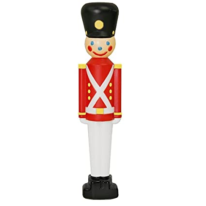 set of 2 33 toy soldier blow mold outdoorindoor christmas decorations