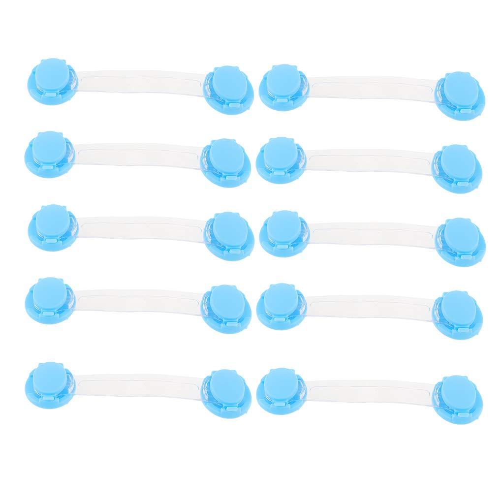 Blau Baoblaze 10-teiliges Baby Sicherheits Sicherheitsschloss F/ür Schrank Schubladen