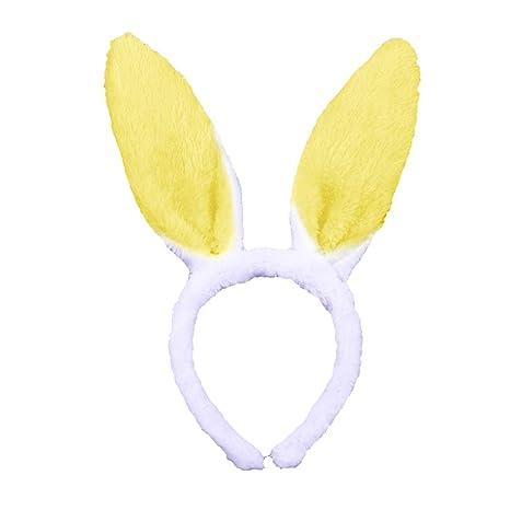 FORLADY Orejas de conejo diadema aro animal grande orejas de conejo diadema de tres piezas: Amazon.es: Ropa y accesorios