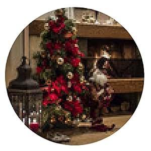 alfombrilla de ratón chimenea del árbol de Chrismas - ronda - 20cm