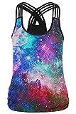 Search : Lacostew Women's 3D Digital Print Multi Straps Sleeveless Vest Tank Top Shirt