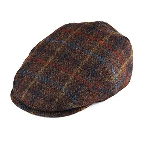(BOTVELA Men's 100% Wool Flat Cap Classic Irish Ivy Newsboy Hat (Plaid Coffee, S))