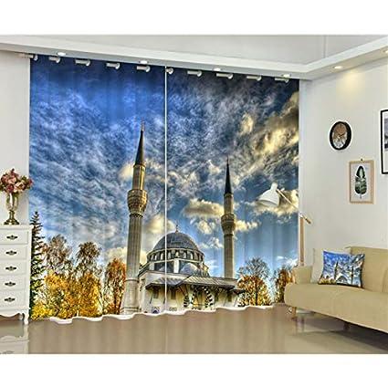 Amazon Com Blackout Window Curtain Arabia Architecture 3d Curtains