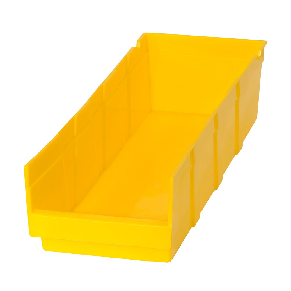 Edsal PB304 Heavy Duty Plastic Bin, 6'' Width x 4'' Height x 18'' Depth, Yellow (Pack of 24 )