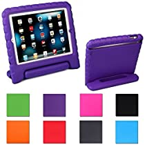 iPad Mini Case for Kids, Proof Light Weight Shockproof Protective Case with Convertible Carrying Handle Kickstand for iPad Mini (1st, 2nd, & 3rd Generation)(Purple)
