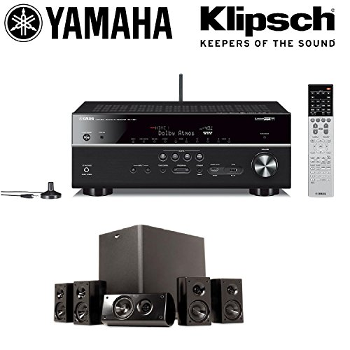 Yamaha rx v681bl 7 2 channel musiccast av receiver with for Yamaha rx v450 av receiver price