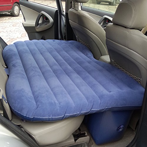 Tomasar Portable Inflatable Car Mattress Car Inflation Bed Travel Air Bed Camping Car Back Seat with Air Pump [US Stock] (Blue)