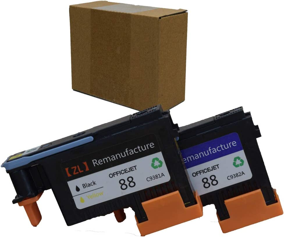 Zelan Compatible Ink Cartridge Replacement for HP 88 Printhead C9381A C9382A for HP Officejet Pro K550 K550dtn K55dtwm K5300 K5400 K5400tn K5400dn K5400dtn