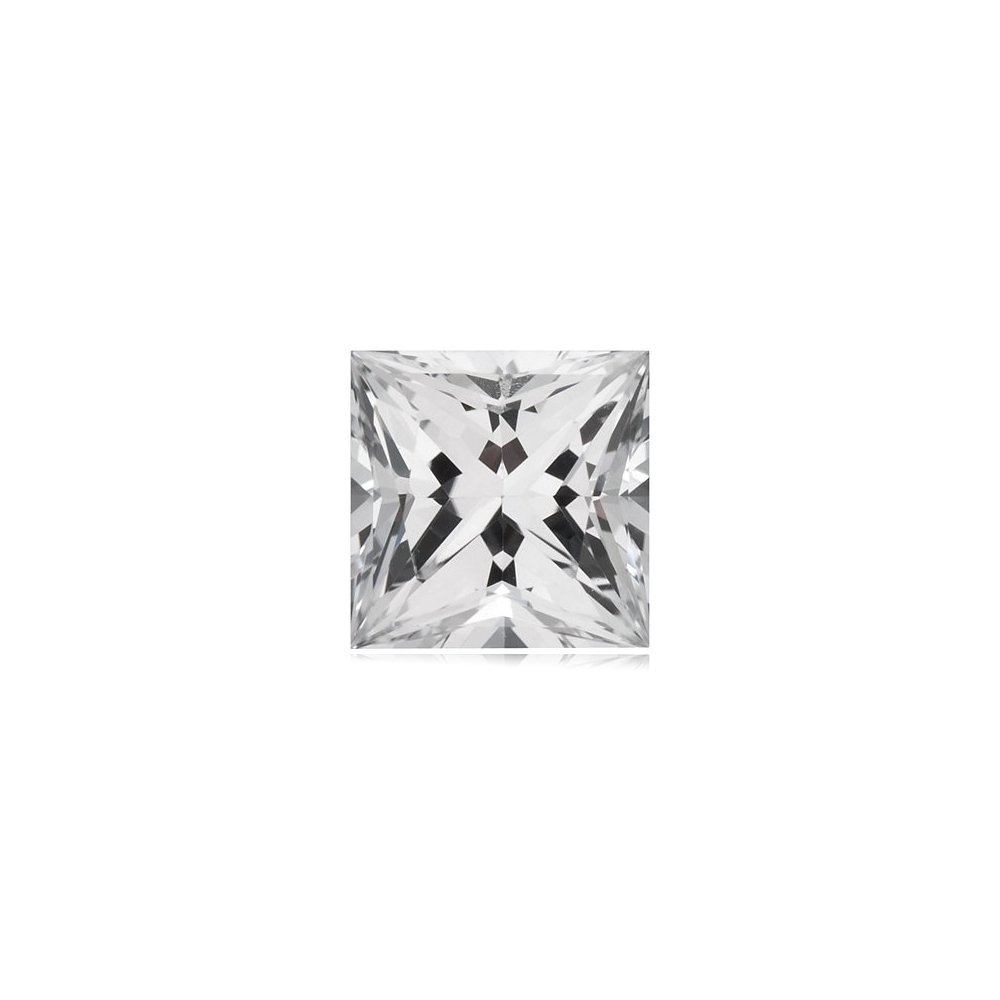 0.50-0.58 Cts of 4.5x4.5 mm AAA Square Princess White Sapphire ( 1 pc ) Loose Gemstone