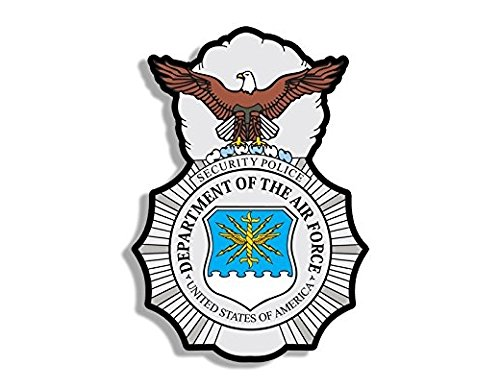 Air Force Security Police Logo Shaped Sticker (badge insignia)- Sticker Graphic - Auto, Wall, Laptop, Cell