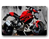 SEASIDESS Ducati Monster Evo Custom Outdoor Indoor Doormat Personalized Design Machine-Wahable Neoprene Rubber Doormat 23.6x15.7 Inch