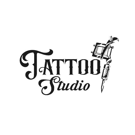 Adhesivos de pared de vinilo pegatinas Estudio de tatuajes letras ...