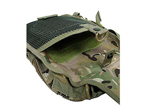 Tactical Molle Utility 3 vie Borsa a tracolla Borsa a tracolla dello zaino Escursioni a piedi Camping Cycling Medium CP