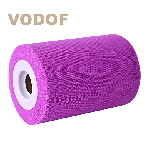 6 Inch x 100 Yards (300FT) Tulle Roll Spool Tutu Skirt Fabric Wedding Party Gift Bow Craft (Orchid)