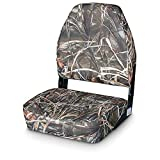 Guide Gear High Back Fold Down Camo Boat Seat, Advantage Max-4 HD