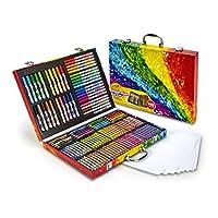 Crayola 140 Count Art Set, Estuche de arte con inspiración de arco iris, Regalos para niños, Edad 4, 5, 6