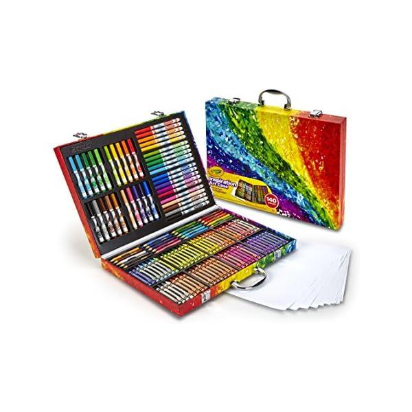 Crayola Mi villano favorito, estuche de inspiración artística, 140 piezas, Minions, juego de arte, edades 6, 7, 8, 9, 10, Classic
