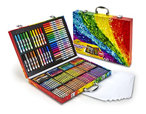 Crayola 140 Count Art Set, Rainbow Inspiration Art Case, Gifts