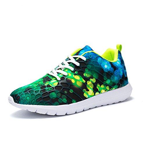 Idee Frames Dames Herenmode Hardloopschoenen Lichtgewicht Gymschoenen Casual Paar Schoenen Fluorescerend Groen