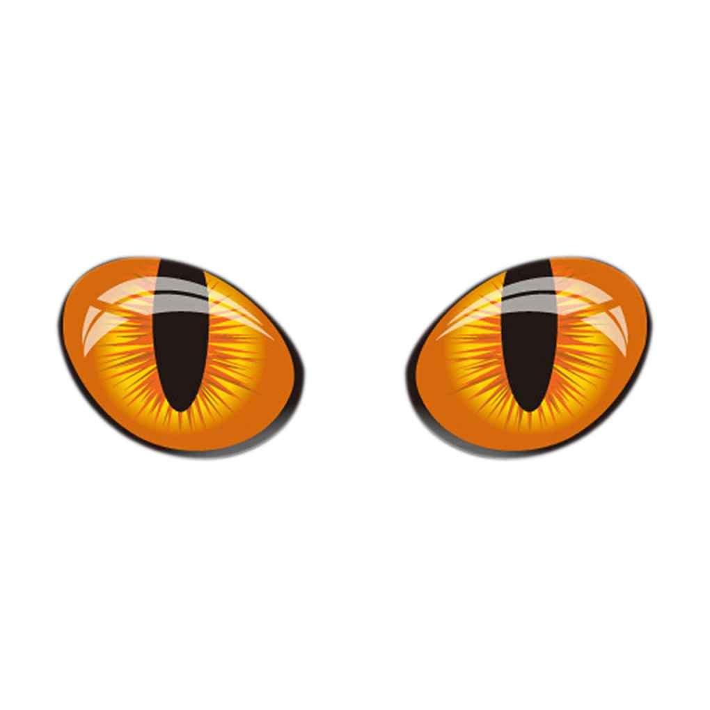 1 par nueva ojos de gato pegatinas de Cine para cualquier coche Espejo retrovisor Decal Elenxs