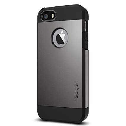 Spigen Tough Armor Designed for Apple iPhone SE Case (2016) - Gunmetal