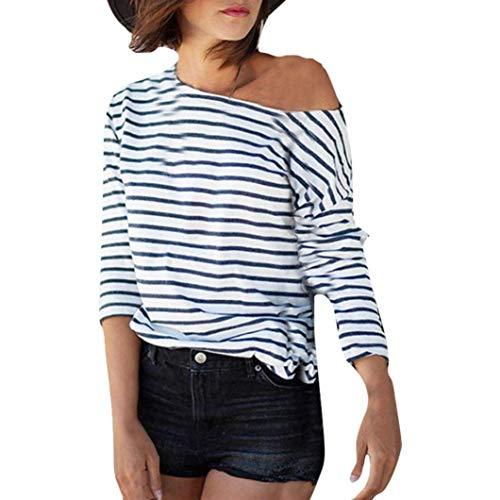 Libero Moda Alto Senza Primaverile Maniche Mujeres Shirts Camicette A Classiche Righe Autunno Bretelle Bluse Tempo Camicetta Bianca A Donna Leggero Camicia Lunghe in Sciolto WZAqz166f